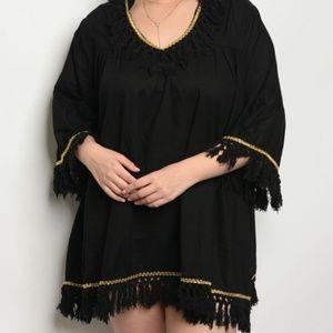 84e46d5415a Angelica Black Tunic Dress Plus Size